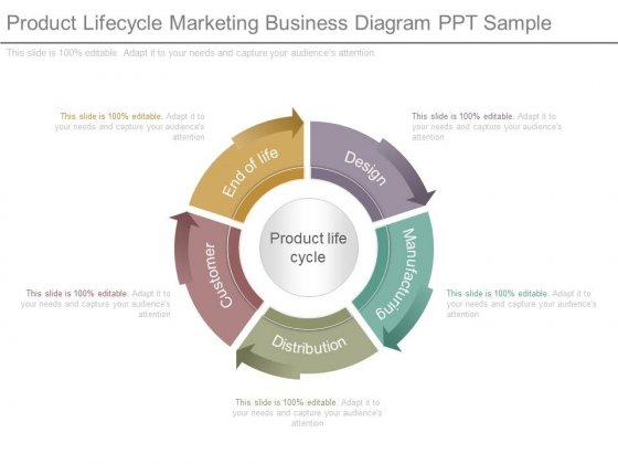 Product Lifecycle Marketing Business Diagram Ppt Sample