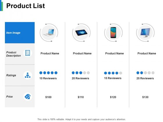 Product List Ppt PowerPoint Presentation Gallery Guidelines