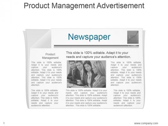 Product Management Advertisement Ppt PowerPoint Presentation Slides