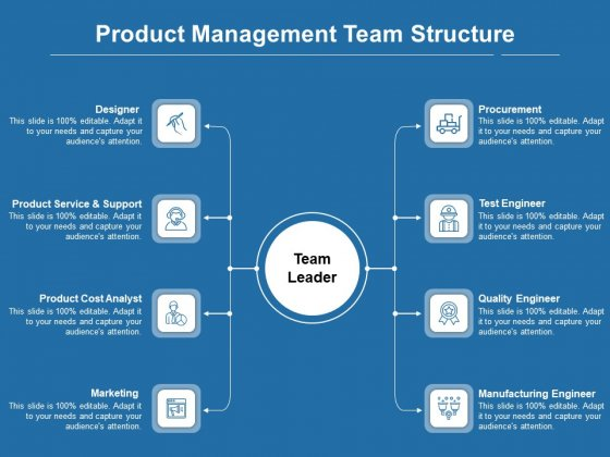 Product Management Team Structure Ppt PowerPoint Presentation Gallery Objects PDF