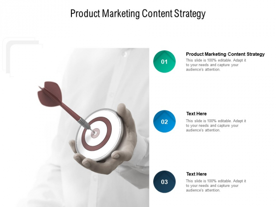Product Marketing Content Strategy Ppt PowerPoint Presentation Gallery Inspiration Cpb Pdf