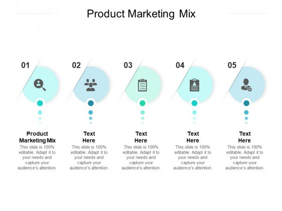 Product Marketing Mix Ppt PowerPoint Presentation Gallery Grid Cpb