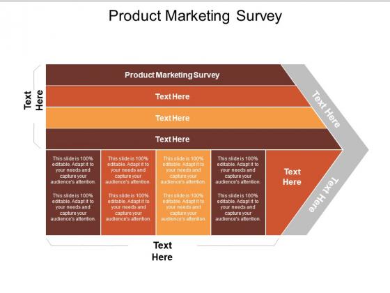 Product Marketing Survey Ppt PowerPoint Presentation Outline Deck