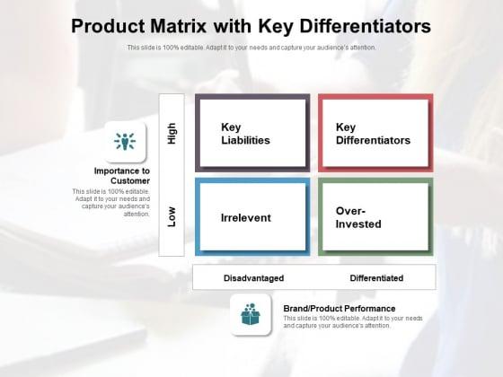 Product_Matrix_With_Key_Differentiators_Ppt_PowerPoint_Presentation_File_Slide_Portrait_PDF_Slide_1