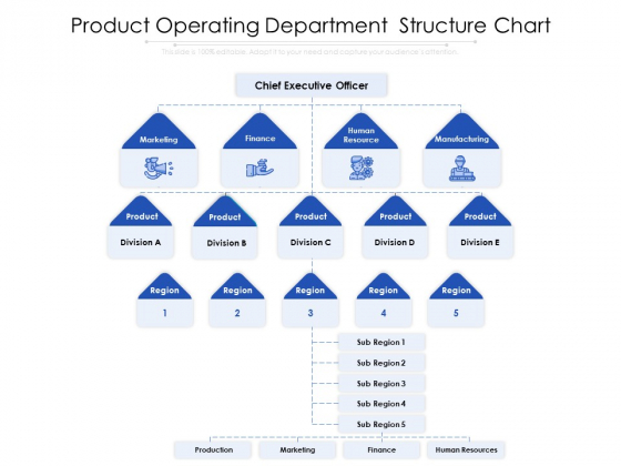 Product Operating Department Structure Chart Ppt PowerPoint Presentation Gallery Graphics Pictures PDF