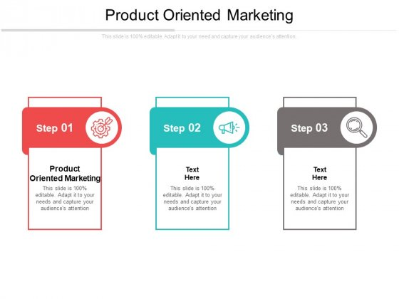 Product Oriented Marketing Ppt PowerPoint Presentation Styles Aids Cpb