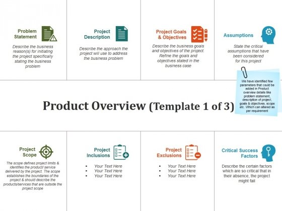 Product Overview Template  Ppt Powerpoint Presentation Pictures