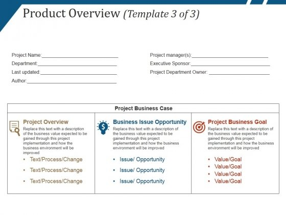 Product Overview Template  Ppt Powerpoint Presentation Ideas Design