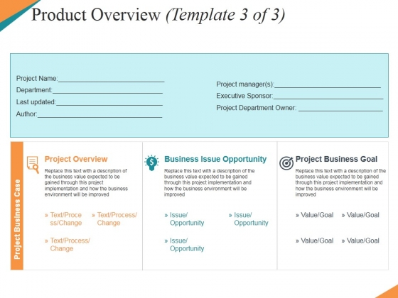 product overview template 3 ppt powerpoint presentation outline grid, Powerpoint Template Business Product Overview Presentation, Presentation templates