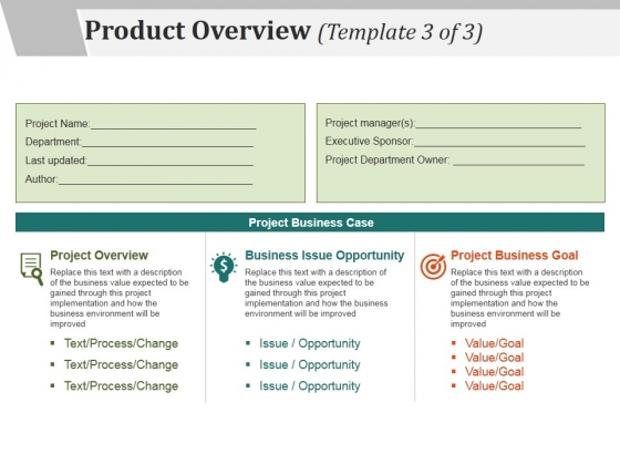 Product Overview Template  Ppt Powerpoint Presentation Show