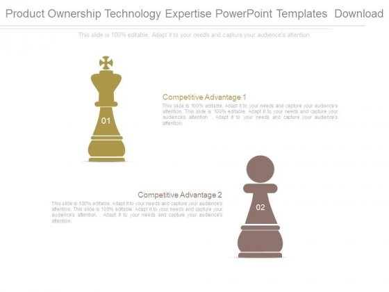 Product Ownership Technology Expertise Powerpoint Templates Download