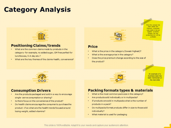 Product Performance And Product Competitive Analysis Category Analysis Brochure PDF