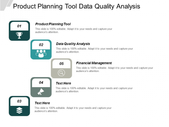 Product Planning Tool Data Quality Analysis Financial Management Ppt PowerPoint Presentation Styles Graphics Template