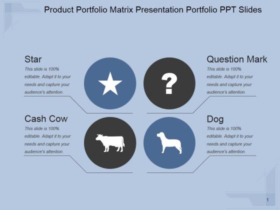 Product Portfolio Matrix Ppt PowerPoint Presentation Example 2015