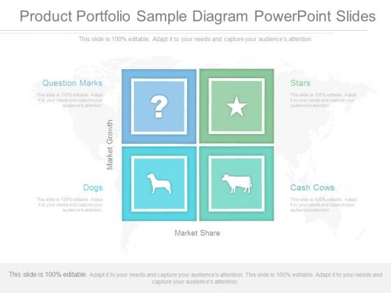 Product Portfolio Sample Diagram Powerpoint Slides