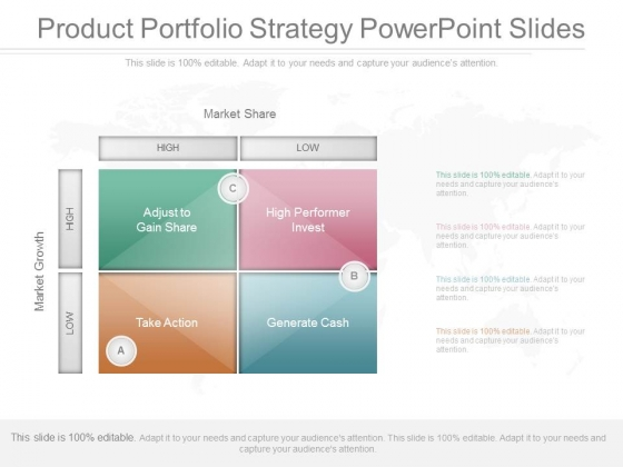 Product Portfolio Strategy Powerpoint Slides