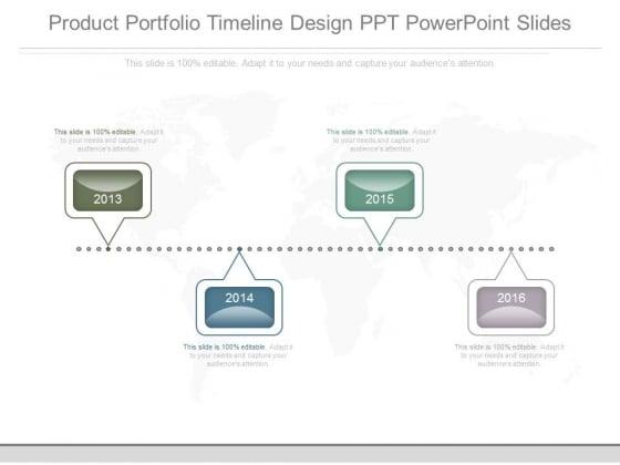 Product Portfolio Timeline Design Ppt Powerpoint Slides