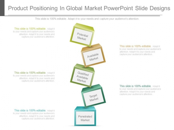 Product Positioning In Global Market Powerpoint Slide Designs