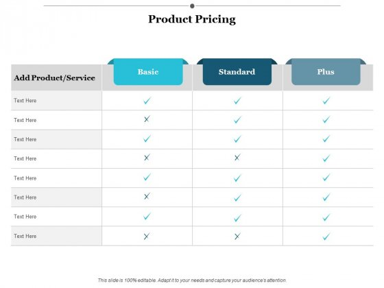 Product Pricing Ppt Powerpoint Presentation Icon Gridlines