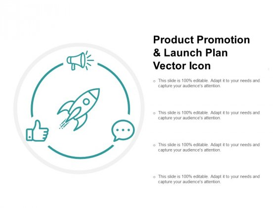 Product Promotion And Launch Plan Vector Icon Ppt PowerPoint Presentation Icon Background