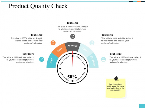 Product Quality Check Ppt PowerPoint Presentation Model Microsoft