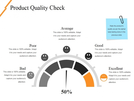 Product Quality Check Ppt PowerPoint Presentation Professional Slideshow