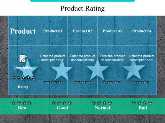 Product Rating Ppt PowerPoint Presentation Outline Diagrams