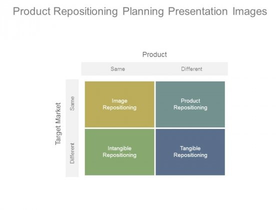 Product Repositioning Planning Presentation Images