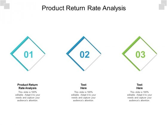 Product Return Rate Analysis Ppt PowerPoint Presentation Layouts Slide Download Cpb Pdf