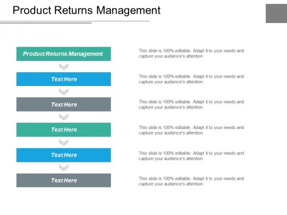 Product Returns Management Ppt PowerPoint Presentation Ideas Diagrams Cpb