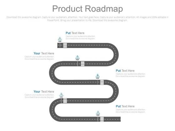 Product Roadmap Business Achievement Ppt Slides