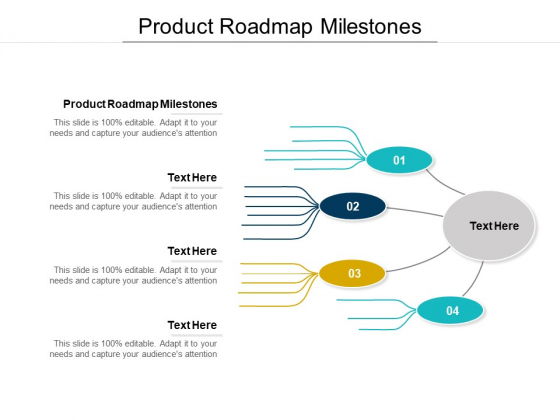 Product Roadmap Milestones Ppt PowerPoint Presentation Ideas Cpb Pdf