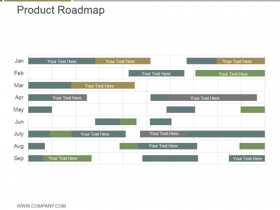 Product Roadmap Ppt PowerPoint Presentation Example
