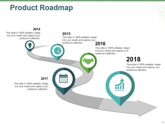 Product Roadmap Ppt PowerPoint Presentation Icon Slides