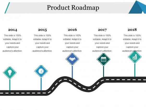 Product Roadmap Ppt PowerPoint Presentation Slides Icon