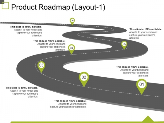 Product Roadmap Template 1 Ppt PowerPoint Presentation Inspiration Clipart