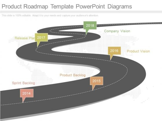 Product Roadmap Template Powerpoint Diagrams  Powerpoint Templates