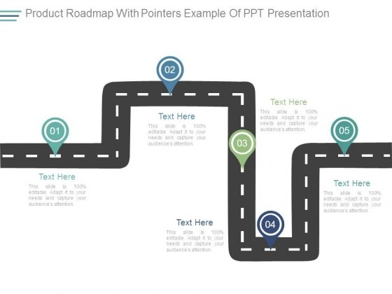 Product Roadmap With Pointers Example Of Ppt Presentation