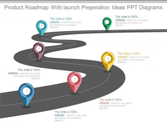Product Roadmap With launch Preperation Ideas Ppt Diagrams