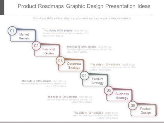 Product Roadmaps Graphic Design Presentation Ideas