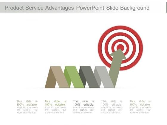 Product Service Advantages Powerpoint Slide Background