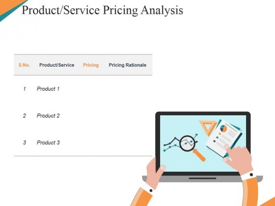 Product Service Pricing Analysis Ppt PowerPoint Presentation Slides Design Templates