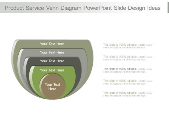 Product Service Venn Diagram Powerpoint Slide Design Ideas