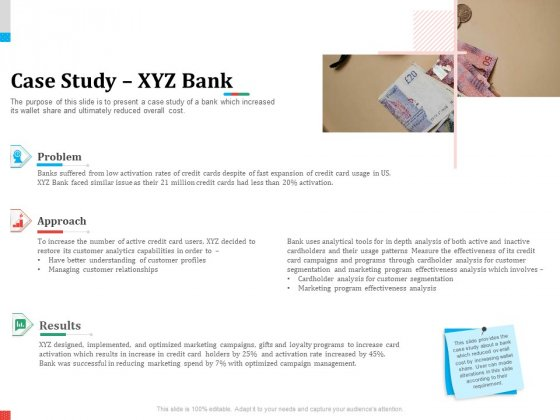 Product Share In Customer Wallet Case Study XYZ Bank Information PDF