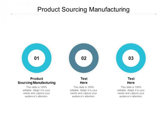 Product Sourcing Manufacturing Ppt PowerPoint Presentation Pictures Show Cpb