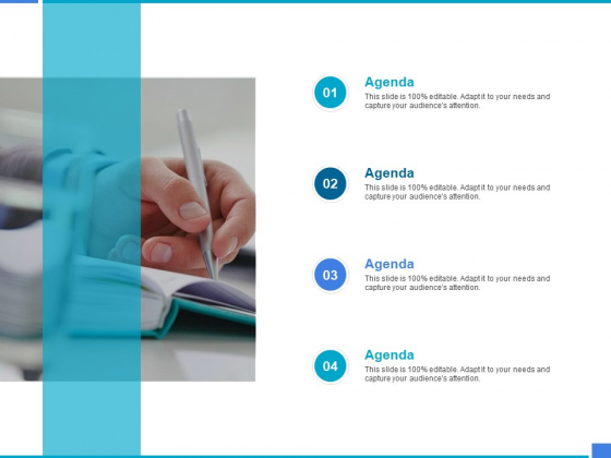 Product Strategy And Product Management Implementation Agenda Ppt Ideas Samples PDF