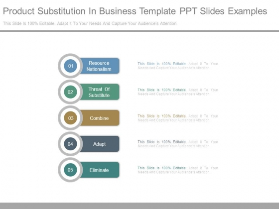 Product Substitution In Business Template Ppt Slides Examples