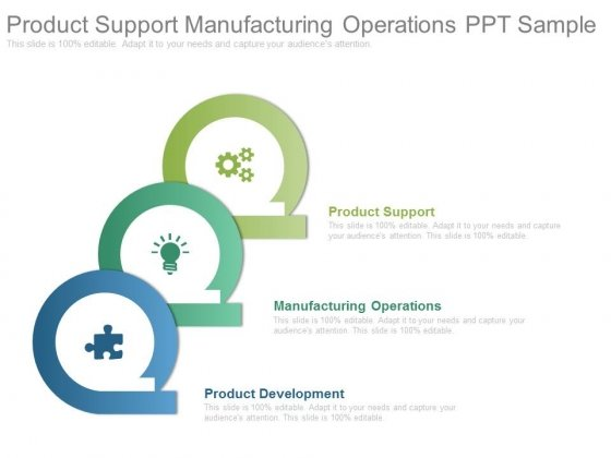 Product Support Manufacturing Operations Ppt Sample