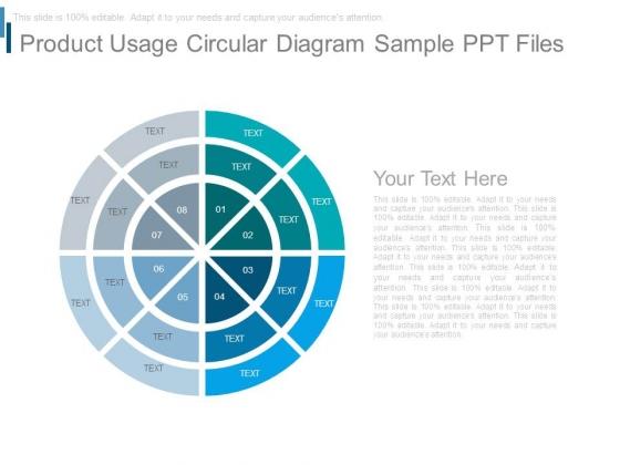 Product Usage Circular Diagram Sample Ppt Files