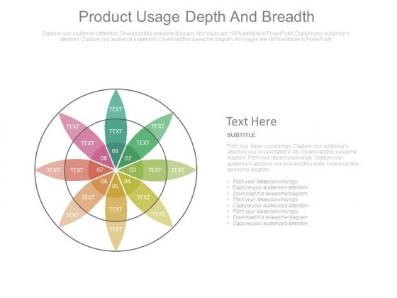 Product Usage Depth And Breadth Flower Petal Ppt Slides